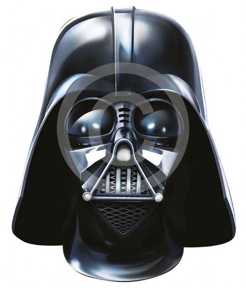 Darth Vader Card Face Mask Star Wars Space Villian Party Decoration